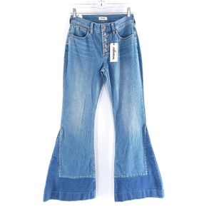 Wrangler Sz 25 High Rise Flare Solid Jeans NWT